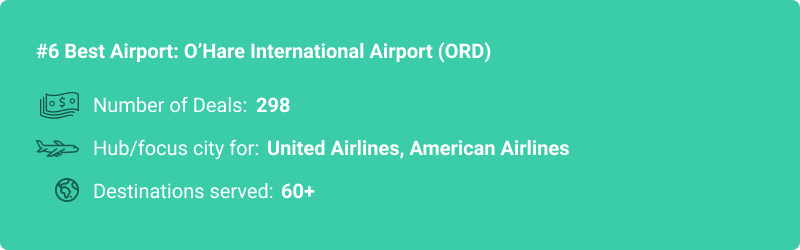 stats about ORD airport