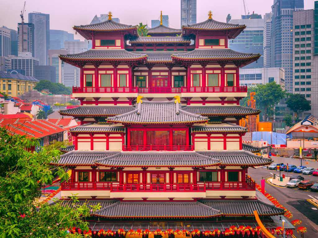 Buddha Tooth Relic Temple in Singapore.