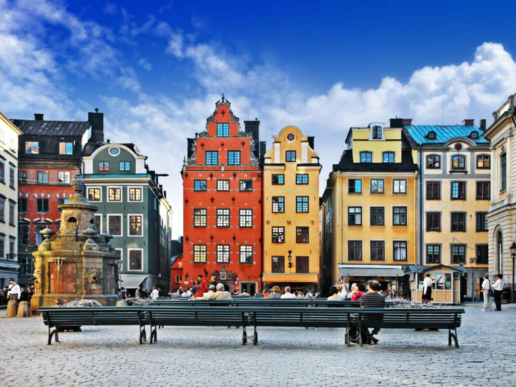 colorful buildings in Stockholm's old town.