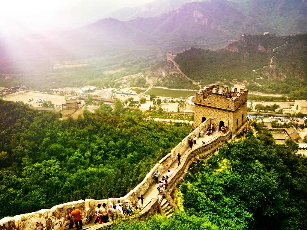 Great Wall of China from above.