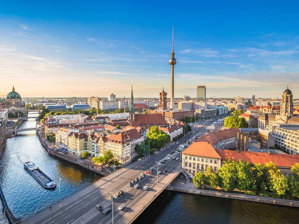 aerial view of Berlin.
