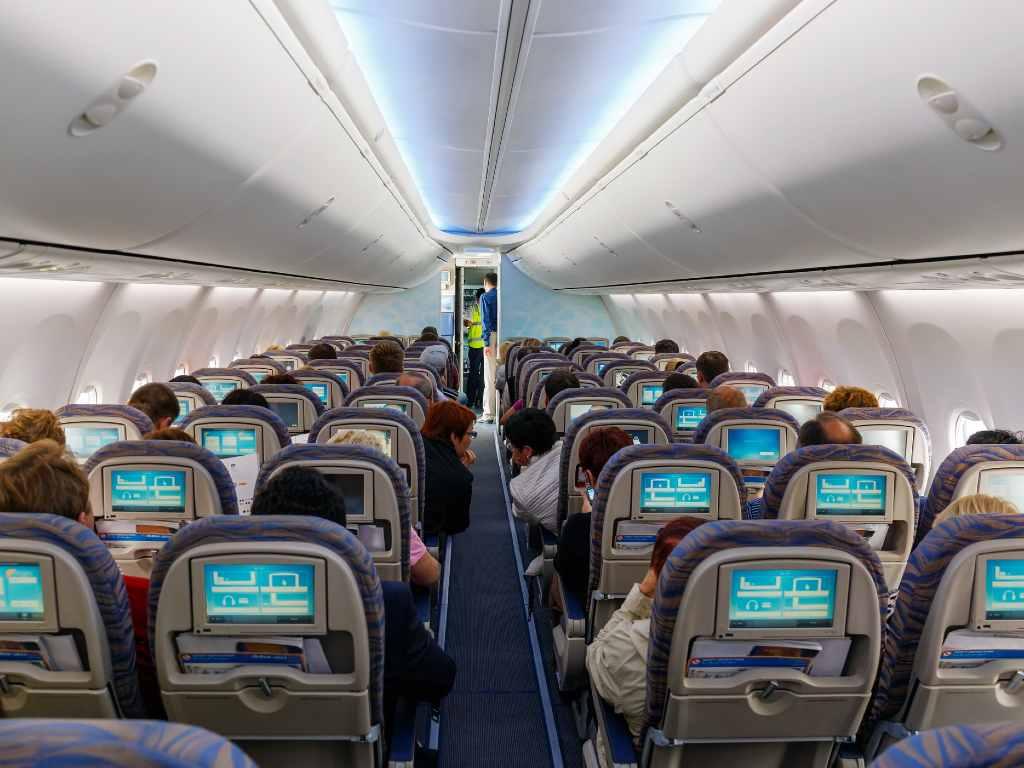 interior of plane.