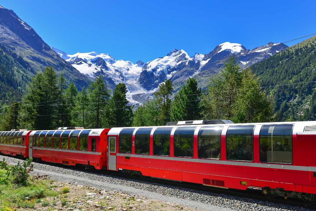Switzerland's Glacier Express train.