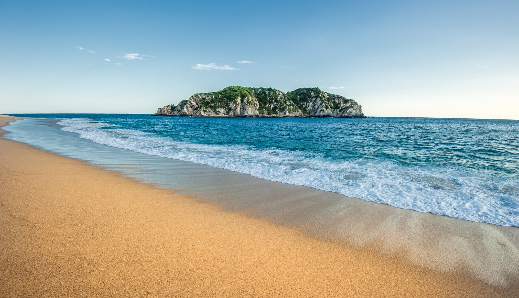 Beach in Huatulco, Mexico