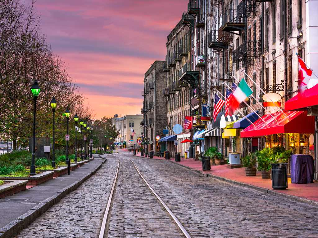 main street in Savannah