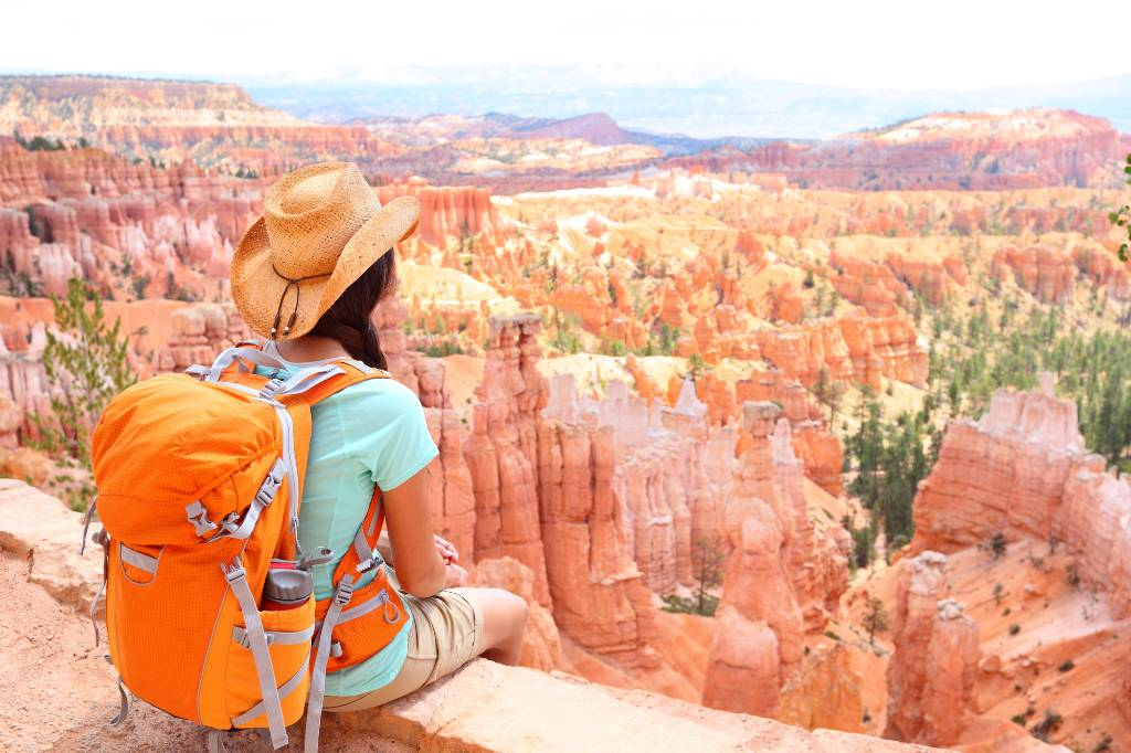 woman overlooking Bryce Canyon National Park