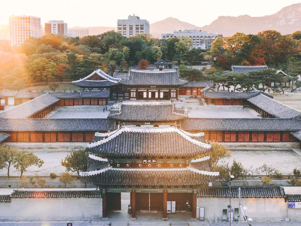 Palace in Seoul South Korea
