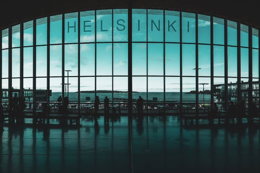 Helsinki airport.