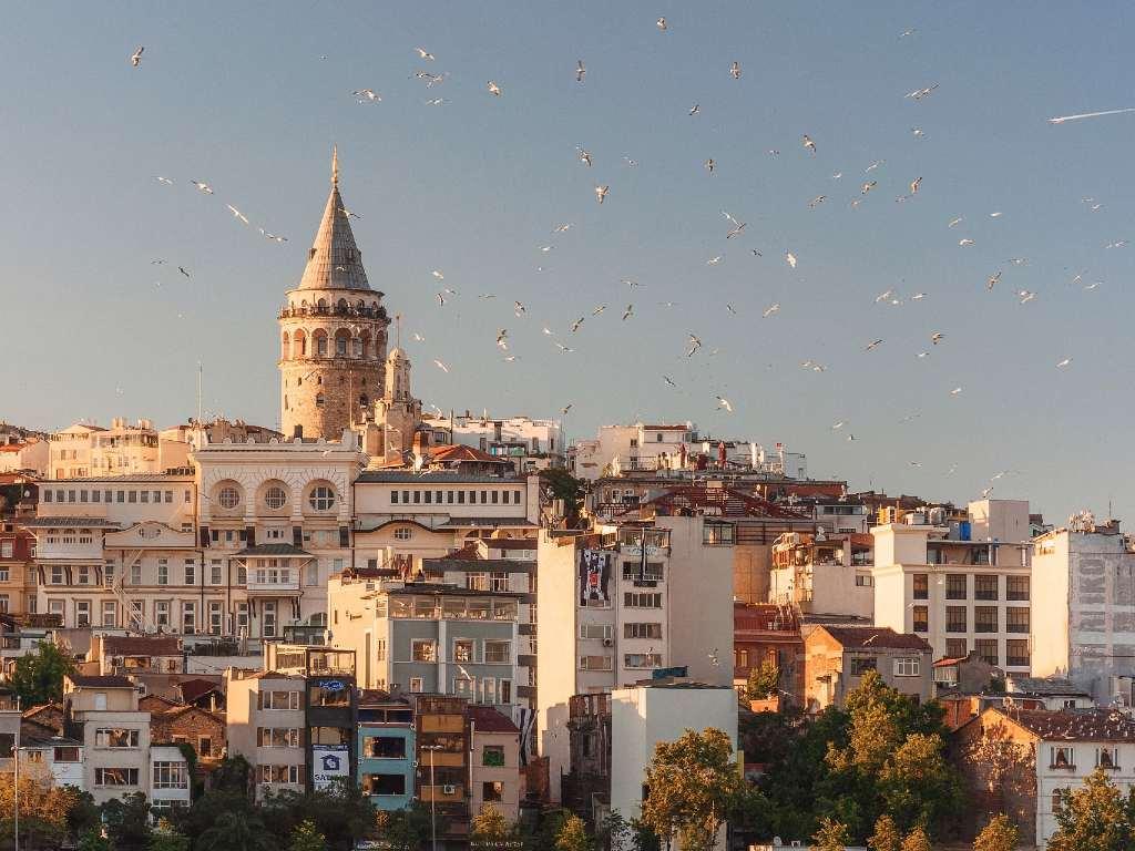 Istanbul skyline.