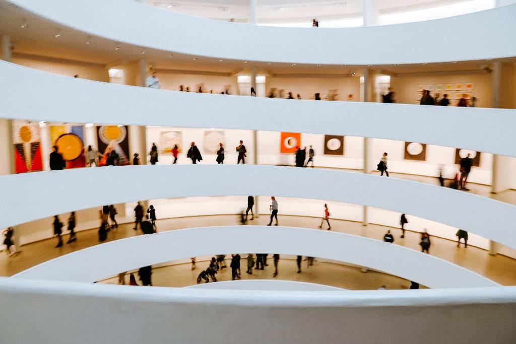 Guggenheim museum interior.