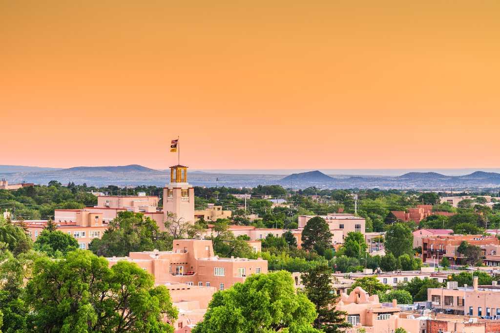 Sunset over Santa Fe.