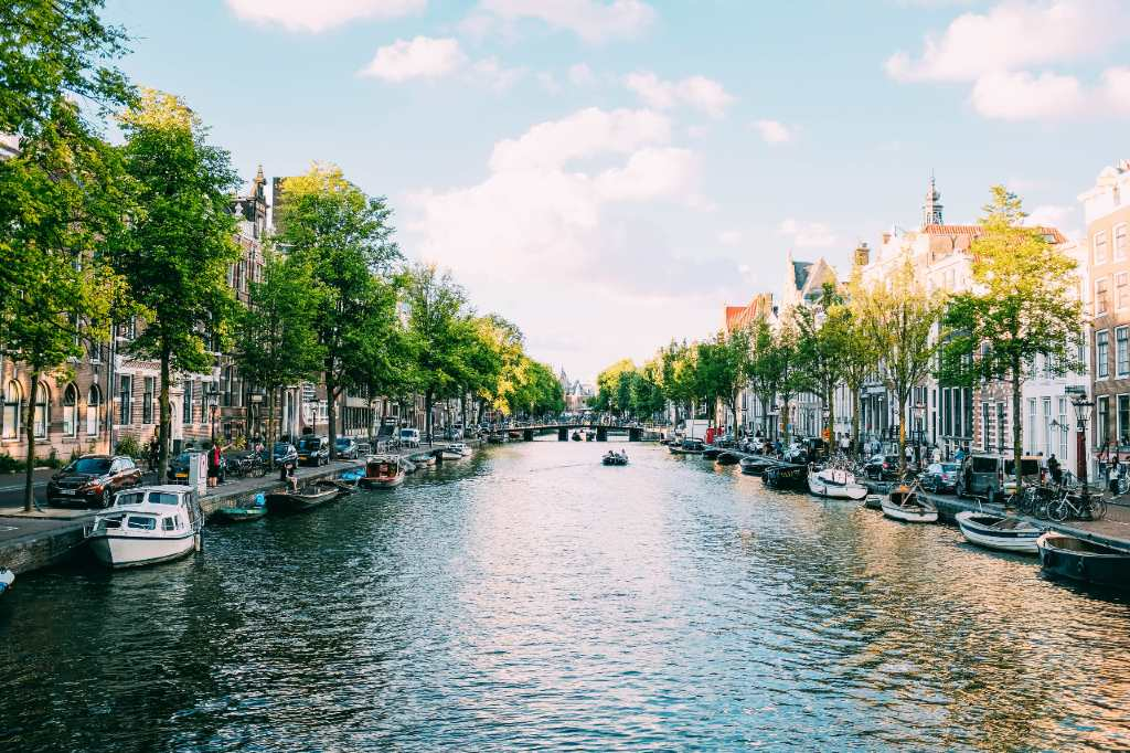 waterway in Amsterdam