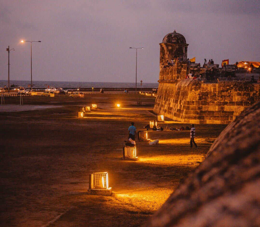 ancient walls of Cartagena