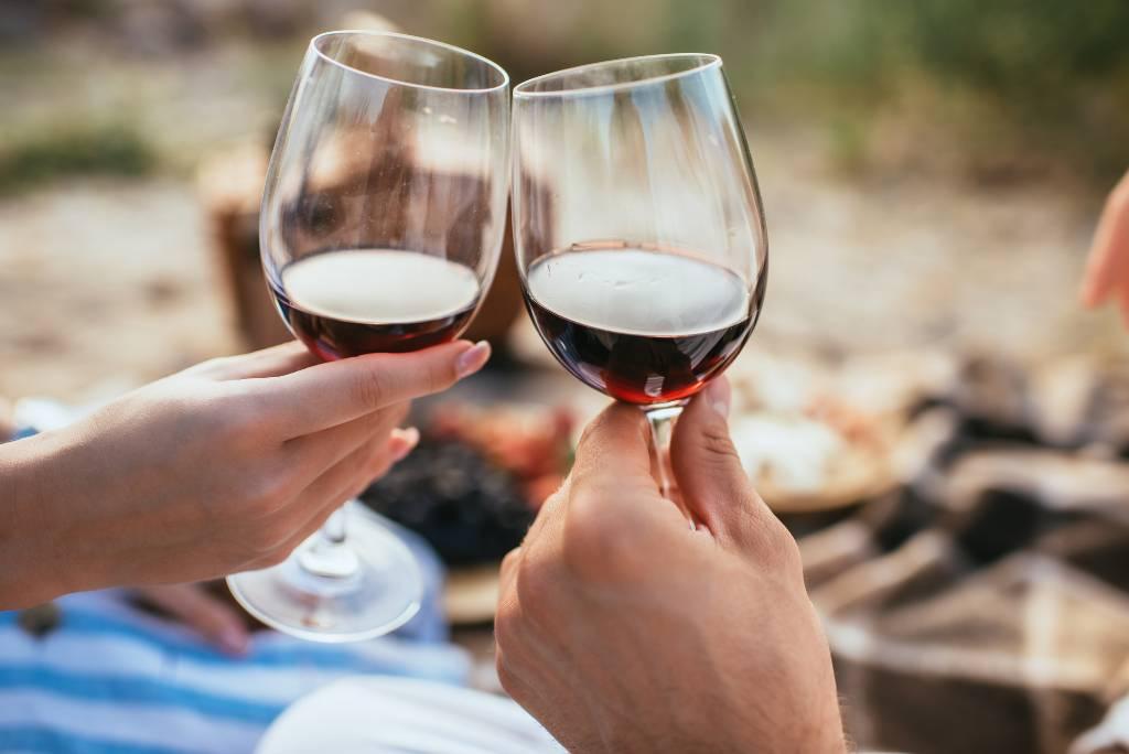 wine tasting in Uruguay.