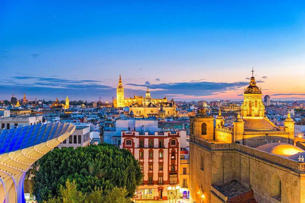 Skyline of Seville.