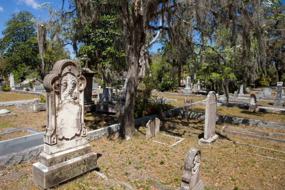 cemetery in Savannah.