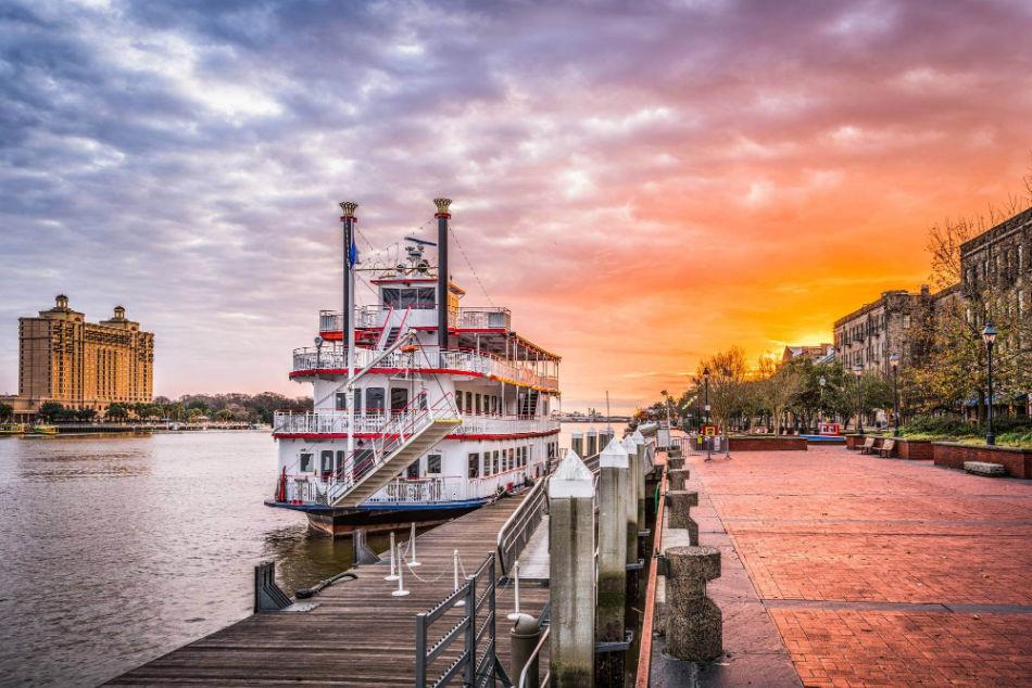riverboat in Savannah.