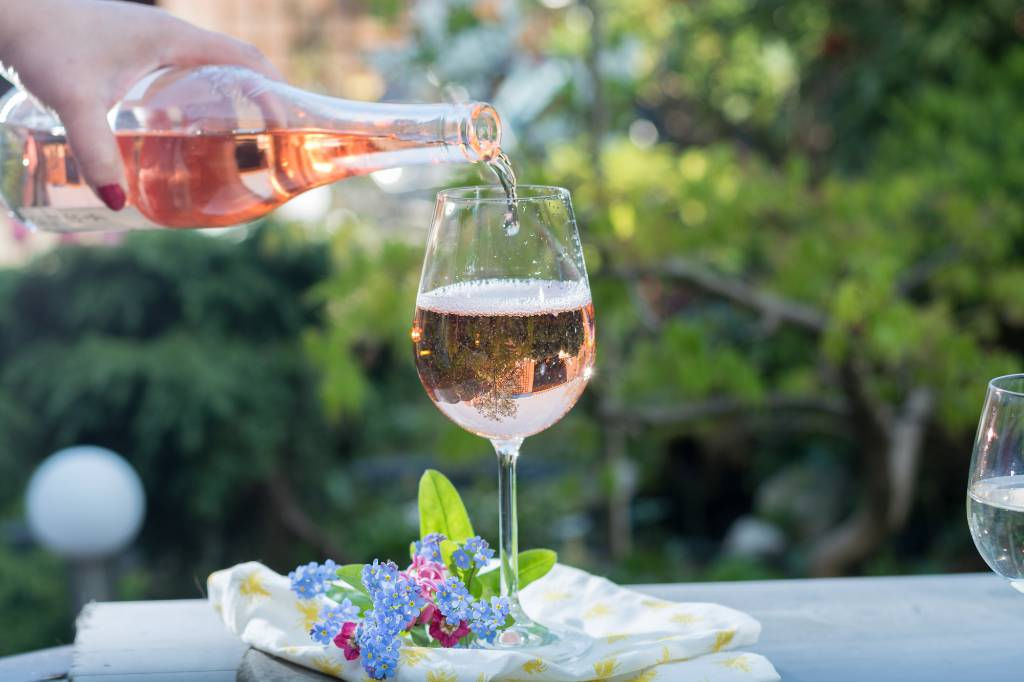 drinking rose in Provence.