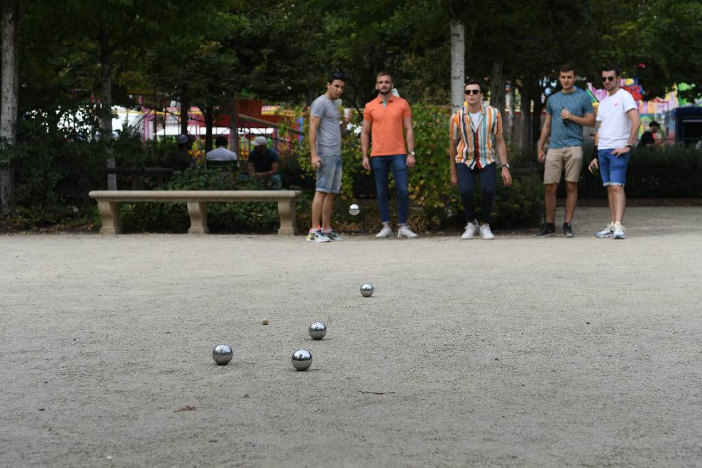 boules game in Provence.