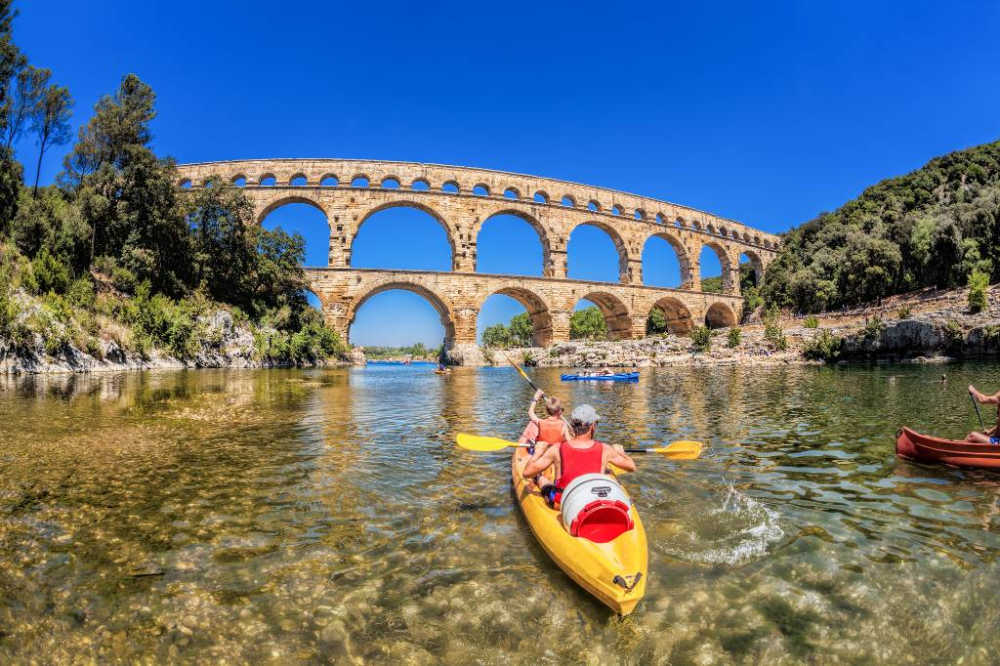 the Pont du Gard in Provence.