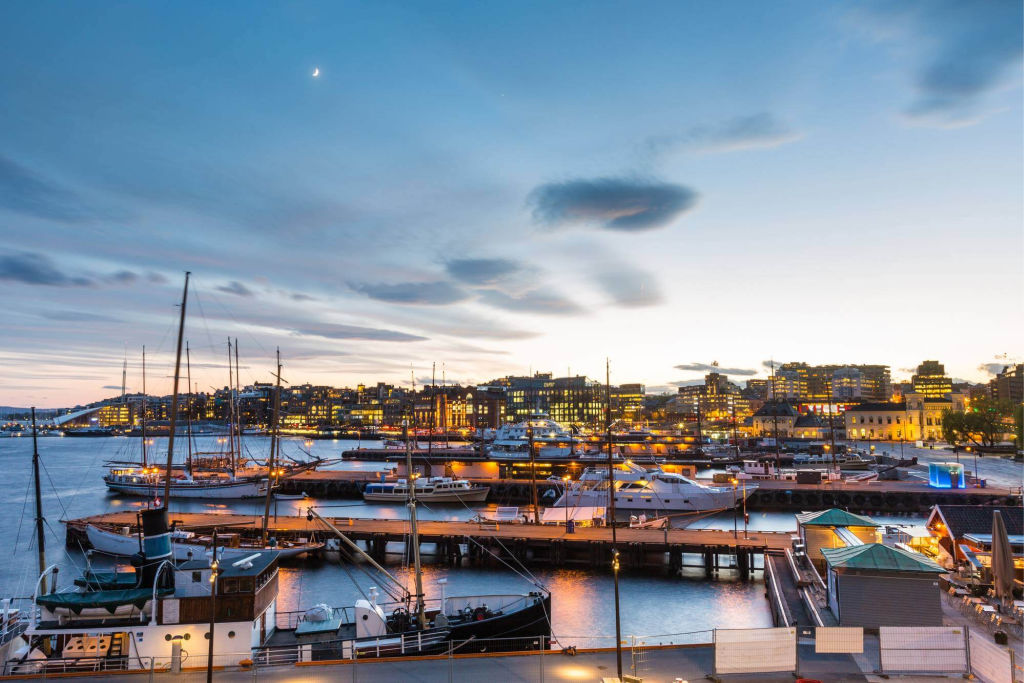 Oslo harbor view.