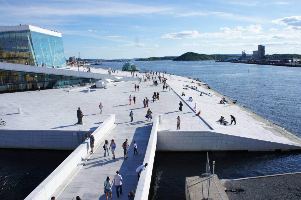 roof of the Norwegian Opera in Oslo.