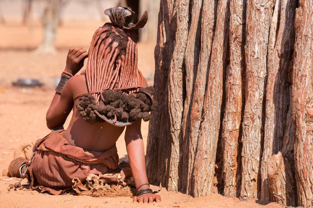 Himba woman in Namibia.