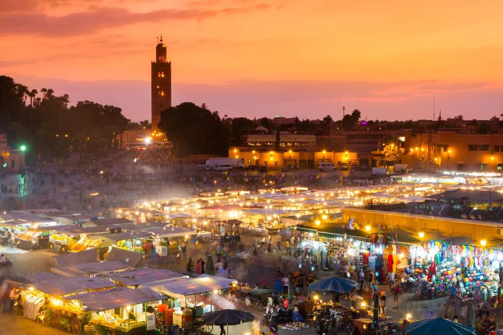 Marrakesh square.