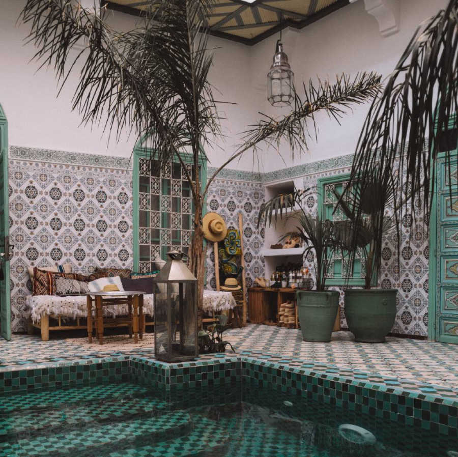 riad in Marrakesh.