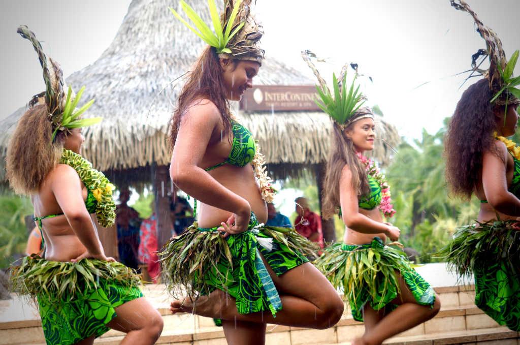 Tahitian dancers in French Polynesia
