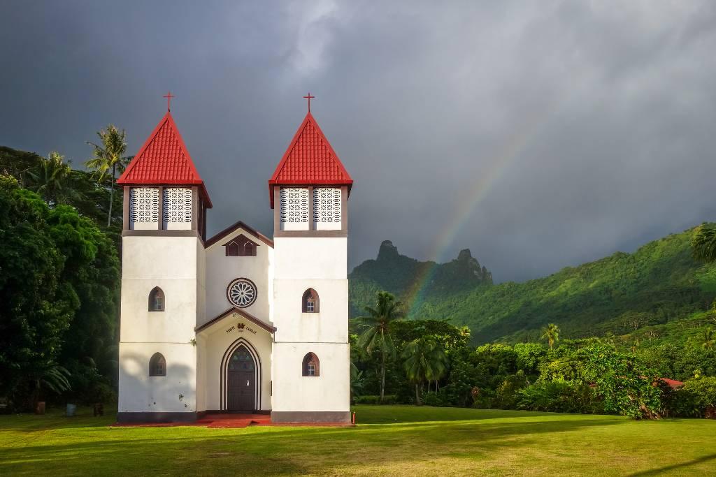 rainbow in French Polynesia.
