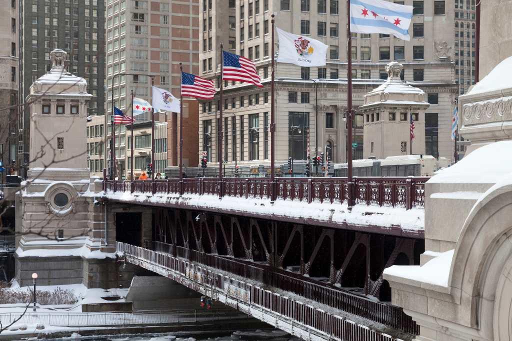 DuSable bridge in Chicago.