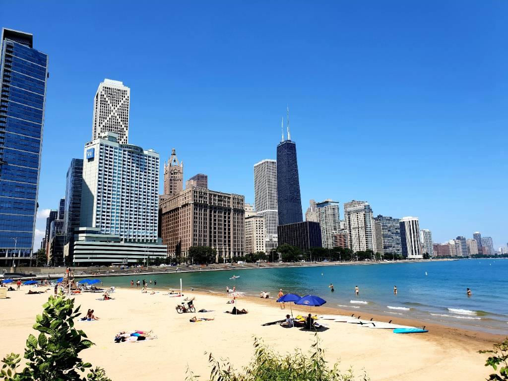beach in Chicago.