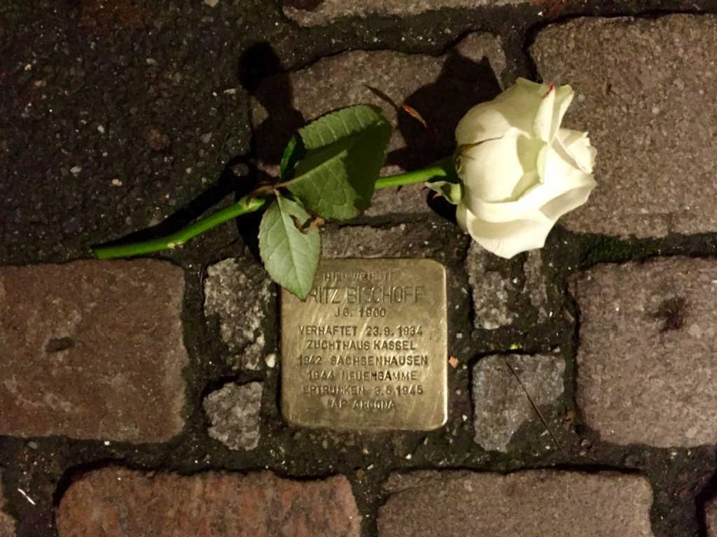 Stolpersteine (Stumbling Blocks)  in Berlin.