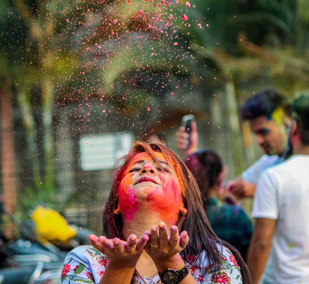 Holi festival in Begaluru.