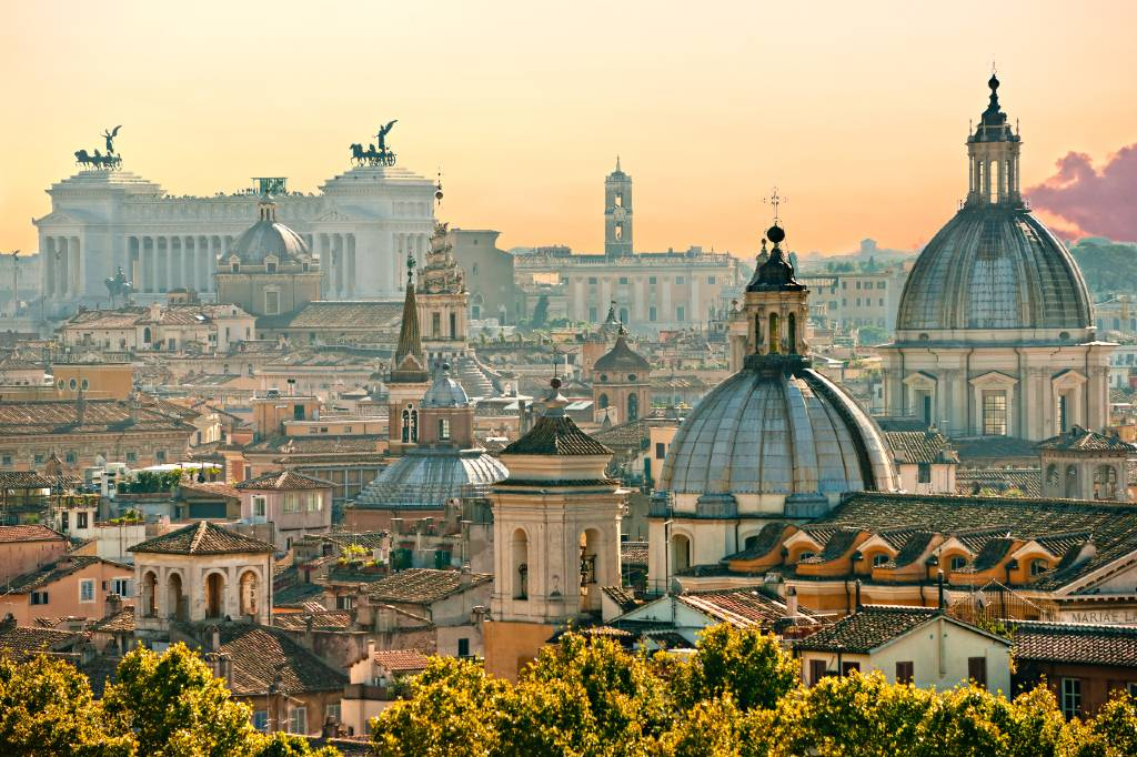 view over Rome.