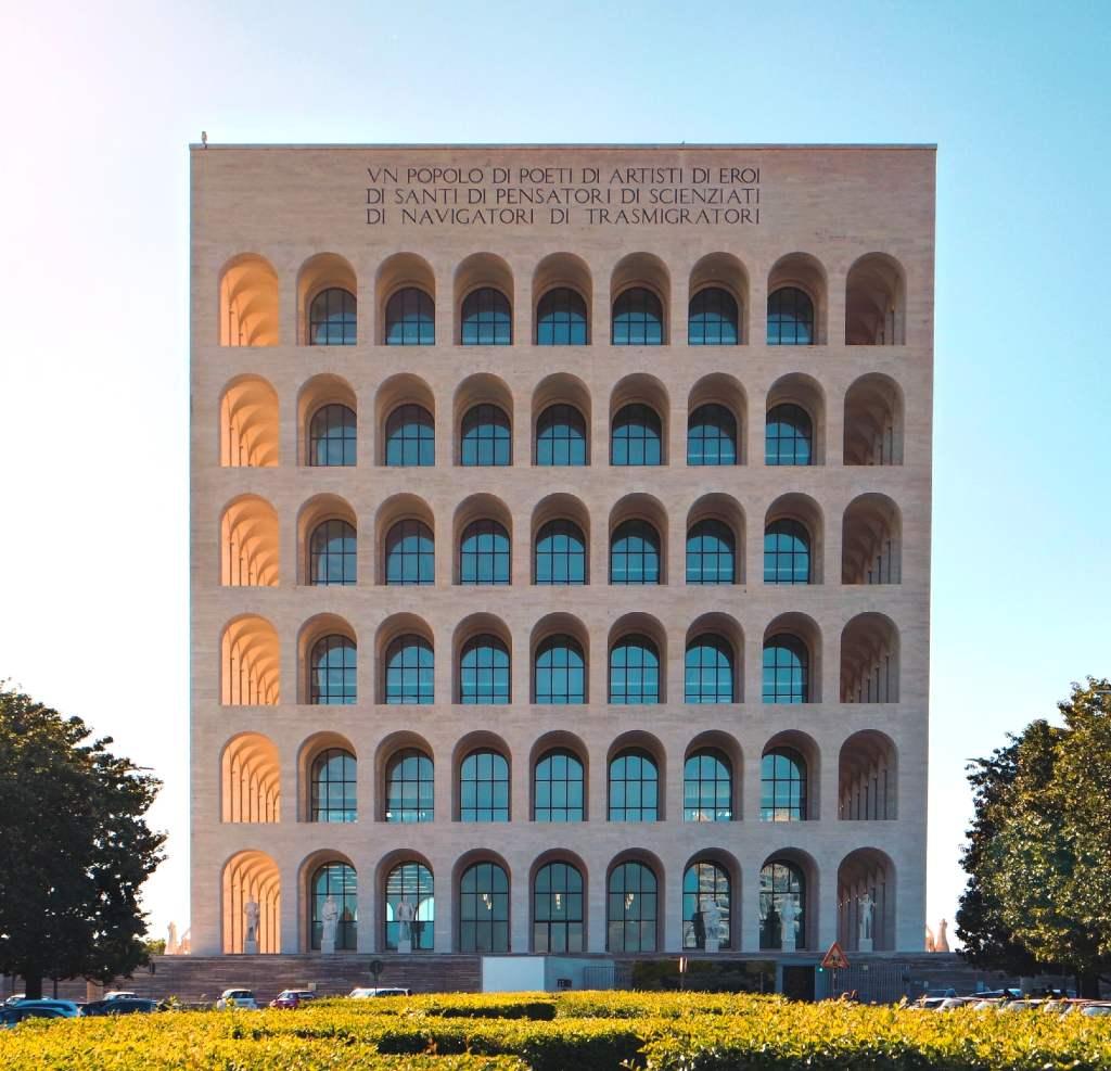 Colosseo Quadrato in Rome.