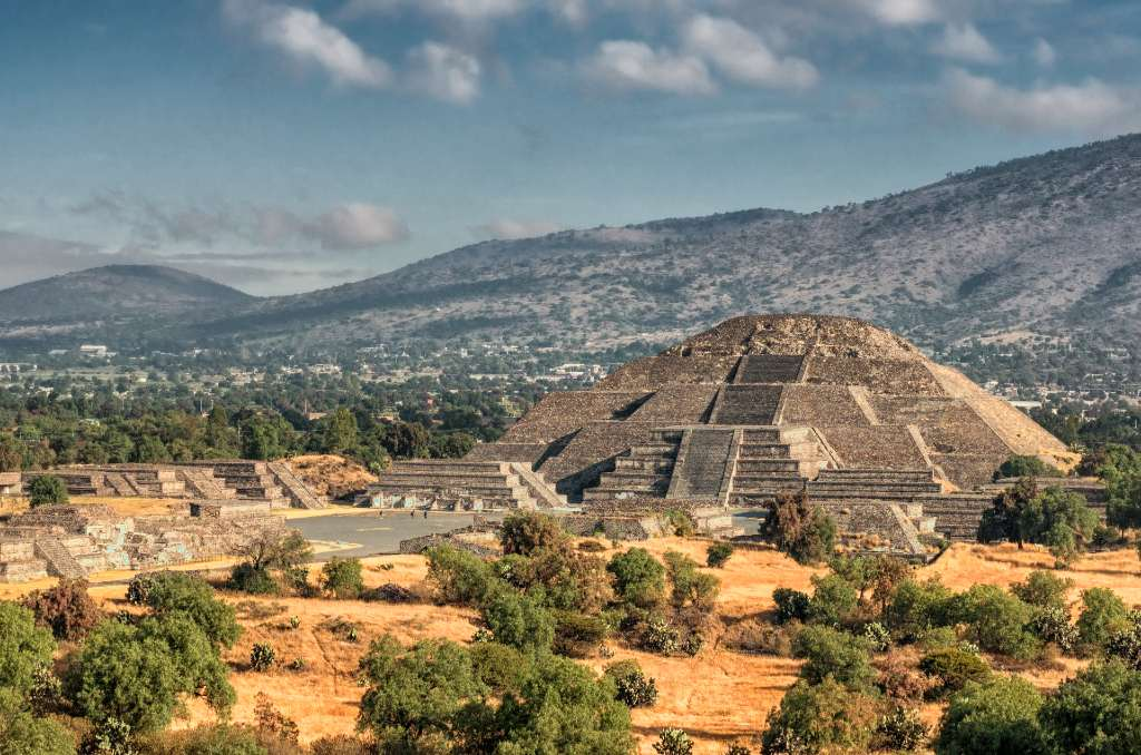 Teotihuacán pyramids near Mexico City.