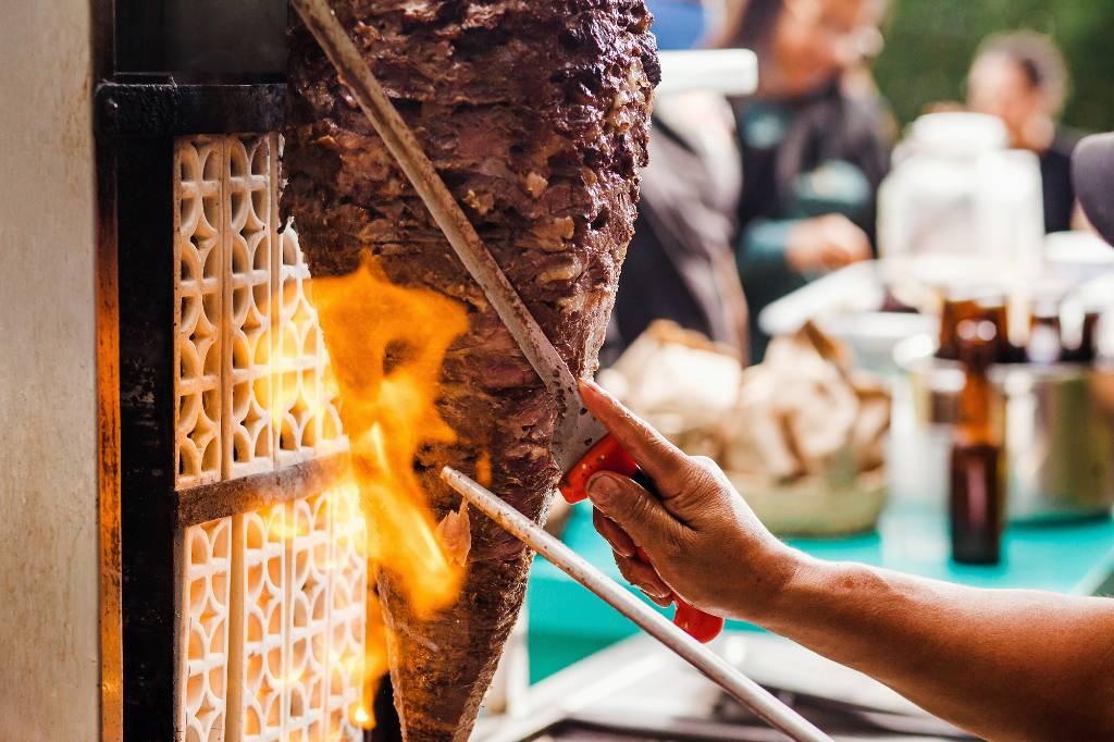 tacos al pastor in Mexico City.