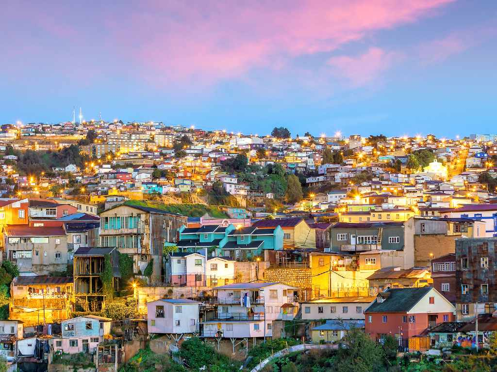 colorful houses of Valparaiso.