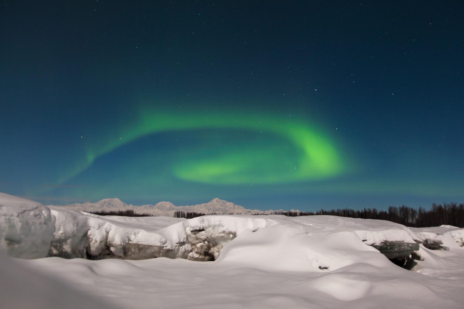 northern lights over Alaska.