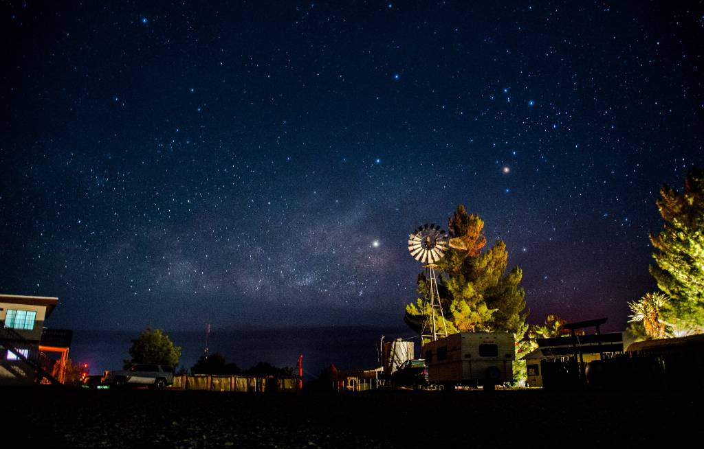 stargazing in West Texas.