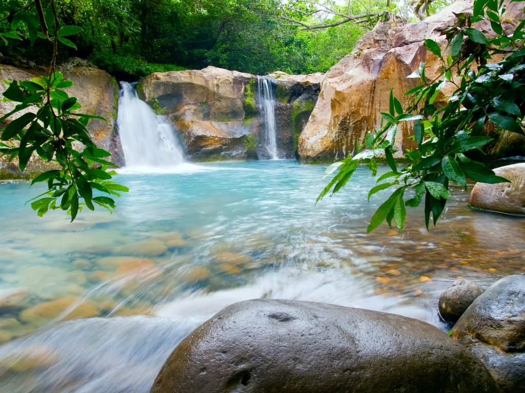 Costa Rica waterfall.