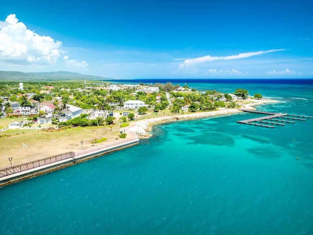 coastline of Jamaica