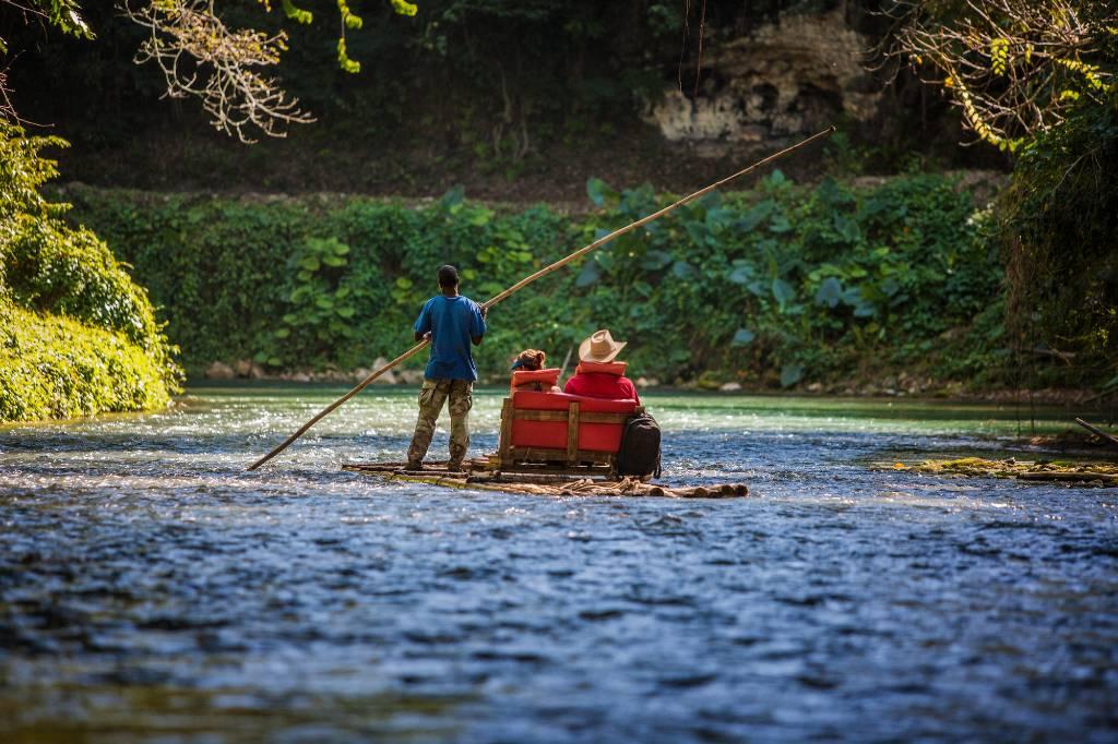 river rafting in Jamaica.