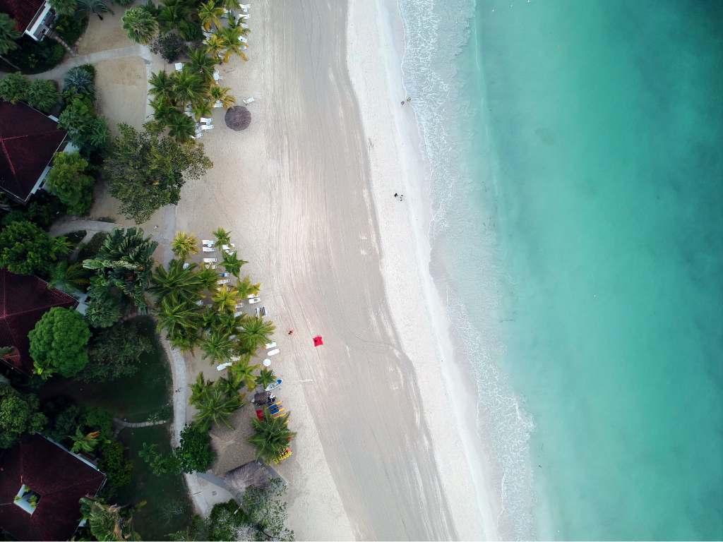 beach in Jamaica.