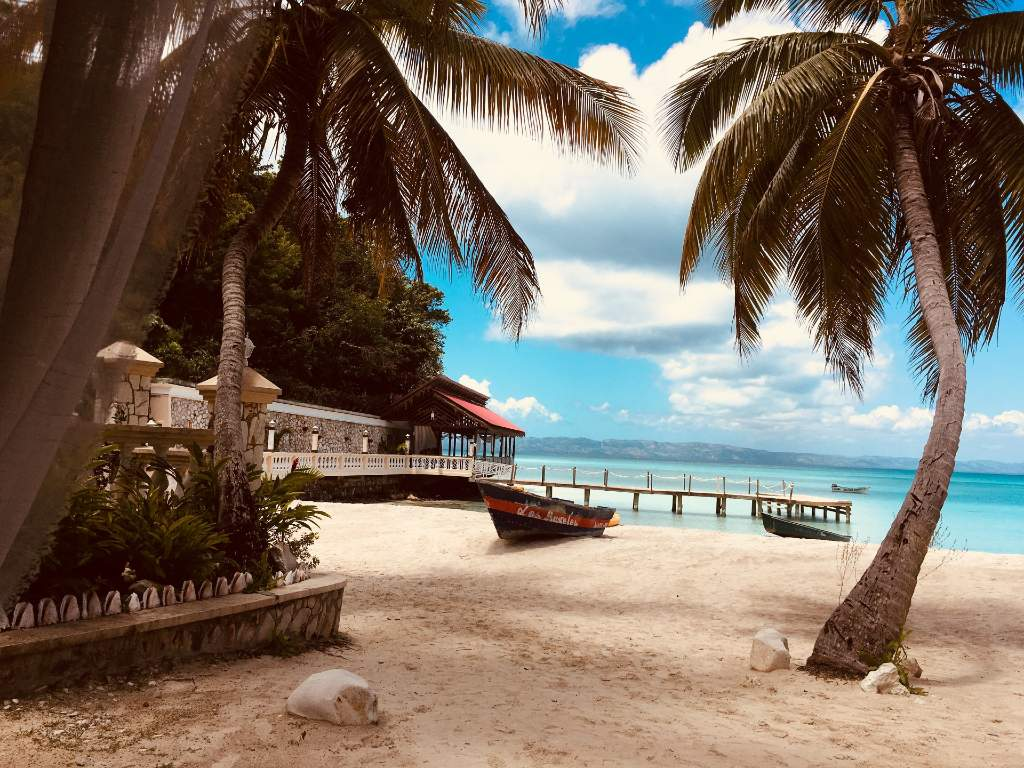 sandy beach in Haiti.