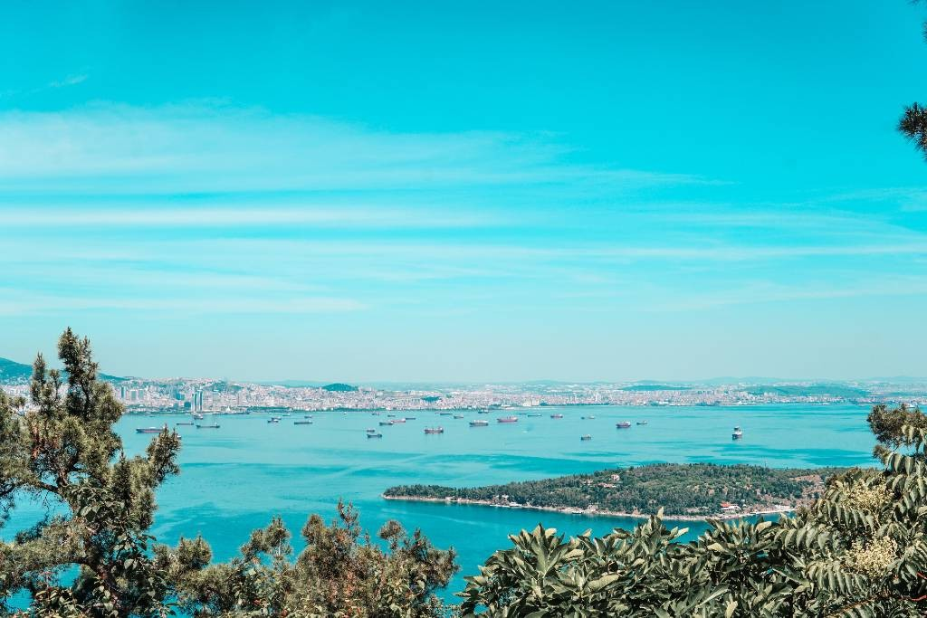 looking towards the Princes Islands, Istanbul.