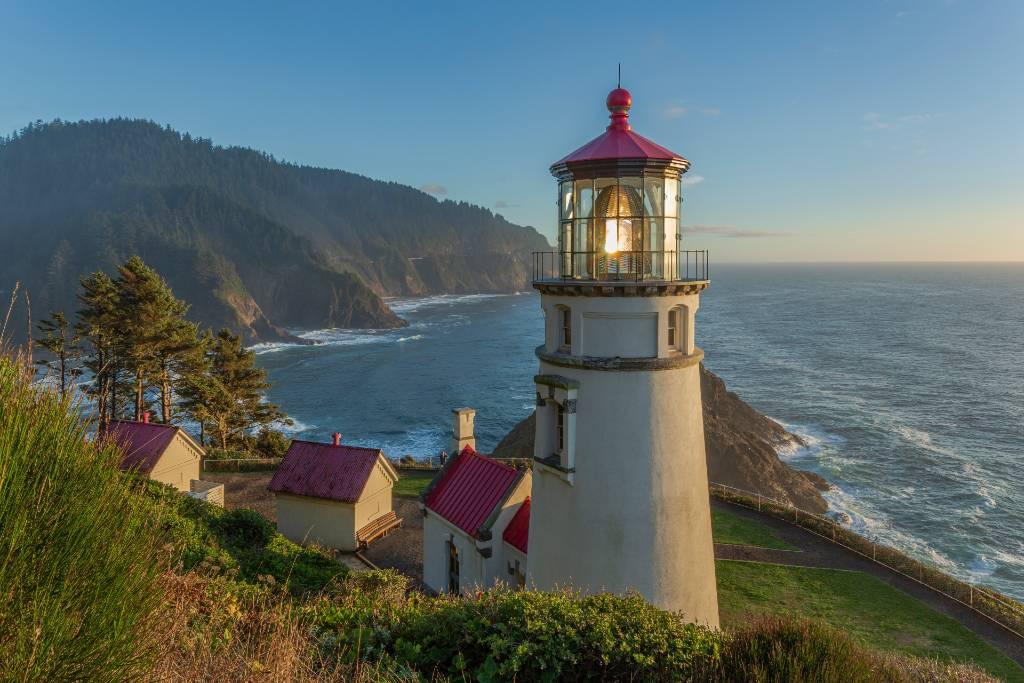 lighthouse in Florence, Oregon.