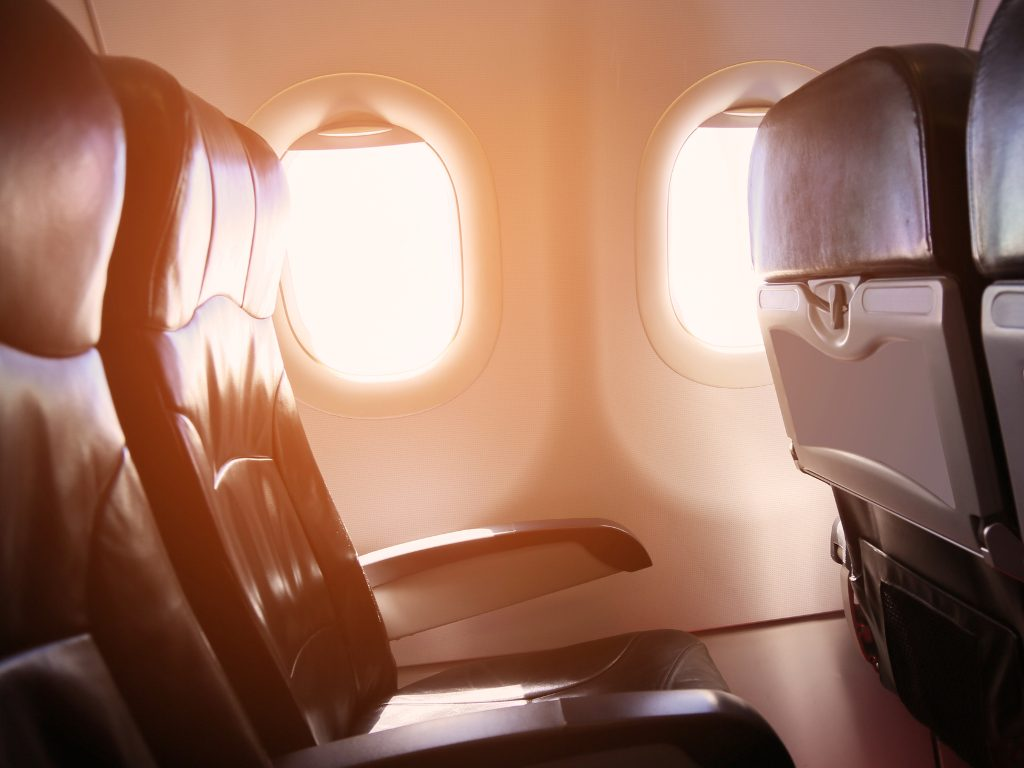 domestic first class seats on a plane.